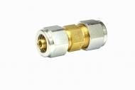 Фитинг-соединитель для термотрубки d8/6 (2 гайки) //GZ-5311//