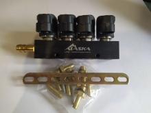 Рампа инжекторная ALASKA J Standart 3 Ом 4 цил. (черная)