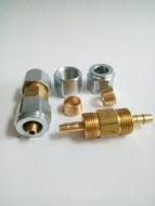Фитинг-соединитель для термотрубки d6/6 (2 гайки) //GZ-2312//
