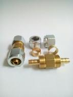 Фитинг-соединитель для термотрубки d8/8 (2 гайки) //GZ-2313//
